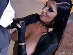 romi rain, blowjob, riding, doggystyle, tattoo, cumshot, facial, reverse cowgirl, heels, rubber, sucking