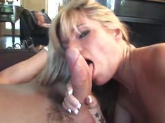 Awesome cowgirl for sexy blonde mature milf (top milf)