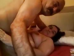 Horny turkish daddy fuck his milf