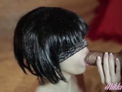brunette, fetish, british, verified amateurs, kink, nikki-wolfe, babe, hot, gorgeous, sexy, red-heels, leopard-dress, blowjob, deepthroat, panties, play-with-cum, panthyhose, tight, panties-fetish, nice-ass