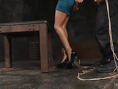 bdsm, black, babe, deep throat, from behind, big black cock, rope bondage, hard tied, hard tied, kira noir, jack hammerx