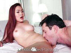 asian, big dick, big tits, hardcore, exotic4k, hd, lea-hart, blowjob, facial, teasing, oiled, fingering, natural-tits, shaved, pussy-licking, big-cock