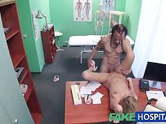 Doctor fucks horny patient