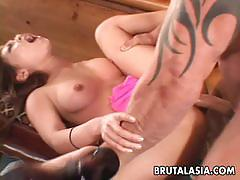 Babe gets her hot pussy nailed