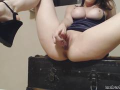 Amber hahn glass dildo compilation