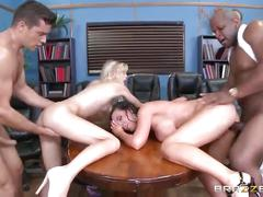 Brazzers - dirty foursome in the court