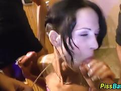 Piss drinking whore sucks