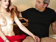 Haley paige ends up in a kinky situation at the massage center