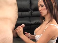 Milf ruined orgasm on tits