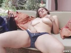Busty german with amazing big tits puts up a show for the camera