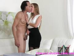 Femaleagent agents wild fuck with american stud