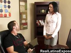 Reallatinaexposed - naughty latina fucked in the office
