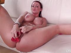 Sohpie dee playing with her pussy