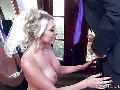 Busty whore+ huge dick = runaway bride