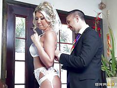 blonde, wife, bride, babe, stockings, blowjob, busty, big dick, standing sex, real wife stories, brazzers, lexi lowe, keiran lee