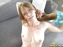 Kaylee sucks dick and takes it from behind