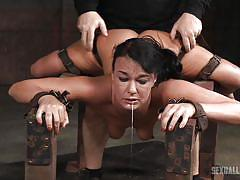 threesome, bdsm, babe, interracial, deep throat, from behind, sex slave, device bondage, sexually broken, sexually broken, london river, jack hammerx, matt williams