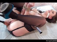 Sandy ambrosia bound whipped vibed machine-fucked