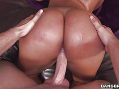 big ass, big tits, outdoor, bubble butt, deep throat, titjob, brunette babe, cock riding, in water, ass parade, bangbros network, sofia char