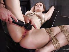 bdsm, from behind, anal sex, redhead babe, rope bondage, electric vibrator, slave training, the training of o, kink, nora riley, owen gray