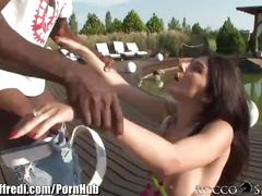 brunette, public, interracial, anal, roccosiffredi, ass-fuck, outdoor, outside, italian, blowjob, bbc, natural-tits, big-cock, deepthroat, cumshot, open-mouth-cumshot