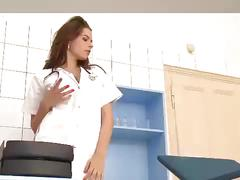 Busty college nurse goes crazy for anal