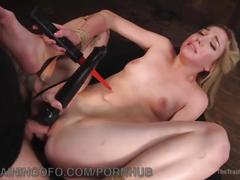 Pretty blonde slave trained