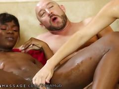 interracial, threesome, massage, nurumassage, black, big-dick, 3some, ffm, natural-tits, creampie, cumshot, nuru, ebony, white, tribbing, scissoring
