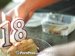 Pornpros - cassidy ryan celebrates her 18th birthday with cake and cock
