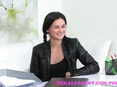 lesbian, reality, small tits, femaleagent, girl-on-girl, amateur, audition, casting, agent, sexy, hardcore, orgasm, pussy-licking, office, kissing, czech, natural-tits