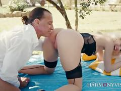 Harmony vision kinky in the garden