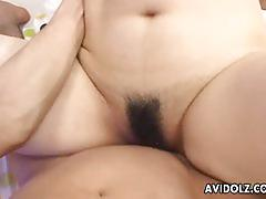 Japanese brunette fucked from behind