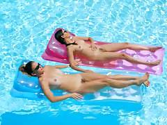 Naked pool party with ryan ryans and shyla jennings
