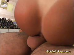 Brazilian amateur gets her pussy nailed