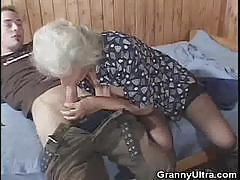 Granny devours this hard dick