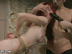 She is all mine in this rough bondage porn video