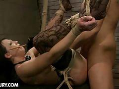 Juggy girl gets bandaged and used as fuck toy