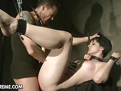 Johanne is dominated in this bondage sex scene