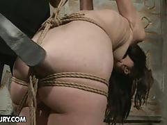 Slim babe gets bandaged and spanked by mandy bright