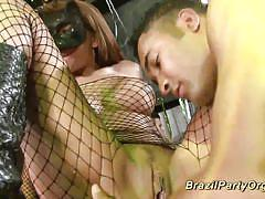 Carneval brazil party fuck orgy