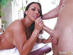 tattoo, massage, big tits, rimjob, blowjob, oiled, eating pussy, big dick, brunette milf, dirty masseur, brazzers, sean lawless, rachel starr
