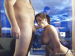 Amateur girl sucking cock and fucking