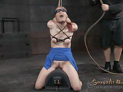bdsm, babe, redhead, humiliation, whipped, blindfolded, deepthroat blowjob, rope bondage, nylon fetish, real time bondage, matt williams, jack hammer, violet monroe