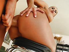 Slutty milf swallows cock and takes it in the ass