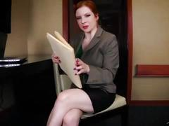 Accountant gone wild -full version lady fyre milf redhead pov