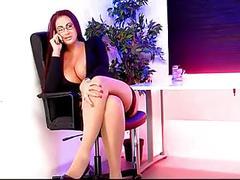 big boobs, big butts, british, high heels, stockings