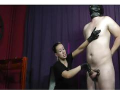 Mistress ruined orgasm handjob cumshot domination femdom
