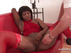 Hard casting squirt black slut ass fucked and fisted