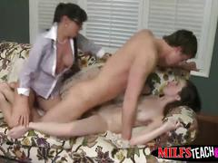 Lucky stud nails victoria and her stepdaughter alexandera