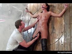 bondage, brunette, fetish, toys, czech, strugglingbabes, natural-tits, bdsm, kink, orgasm, bound, gagged, tied, slave, fingerfuck, vibrator, boots, shaved, small-tits